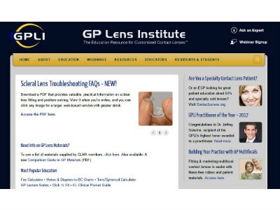 GP Lens Institute Launches New Web Resources