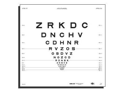 """4 Meter 2000 Series Revised ETDRS Chart """"2"""" from Precision Vision®"""