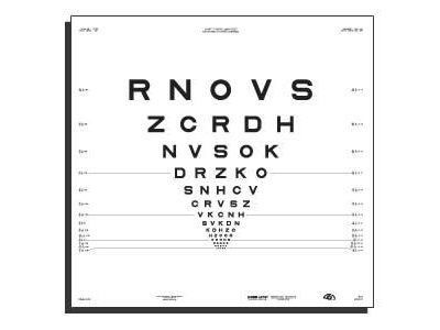 """4 Meter 2000 Series Revised ETDRS Chart """"3"""" from Precision Vision®"""