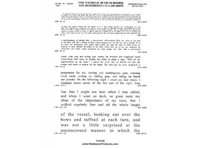 11974CR Standard Reading Test from Good-Lite (Formerly Richmond Products, Inc.)
